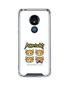 Aggretsuko Expressions Moto G7 Power Clear Case