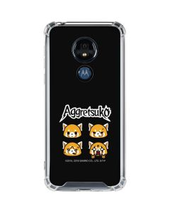 Aggretsuko Facial Expressions Moto G7 Power Clear Case