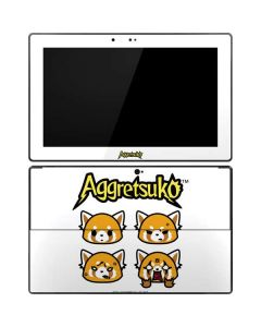 Aggretsuko Expressions Surface Pro Tablet Skin