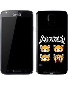 Aggretsuko Facial Expressions Galaxy S5 Skin
