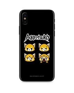 Aggretsuko Facial Expressions iPhone X Skin