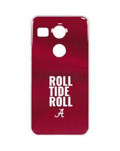Alabama Roll Tide Roll Google Nexus 5X Clear Case