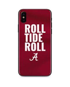 Alabama Roll Tide Roll iPhone X Skin