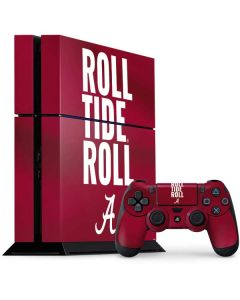 Alabama Roll Tide Roll PS4 Console and Controller Bundle Skin