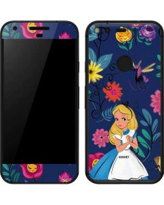 Alice in Wonderland Floral Print Google Pixel Skin