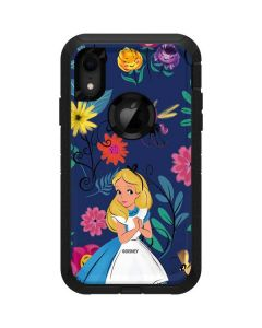 Alice in Wonderland Floral Print Otterbox Defender iPhone Skin