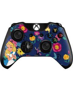 Alice in Wonderland Floral Print Xbox One Controller Skin
