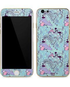 Alice in Wonderland Mushrooms iPhone 6/6s Skin