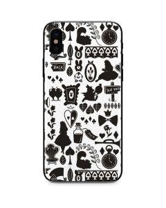 Alice in Wonderland Silhouette iPhone XS Max Skin