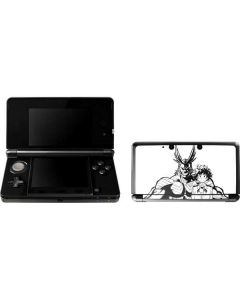 All Might and Deku Black And White 3DS (2011) Skin