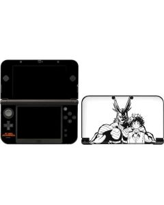 All Might and Deku Black And White 3DS XL 2015 Skin