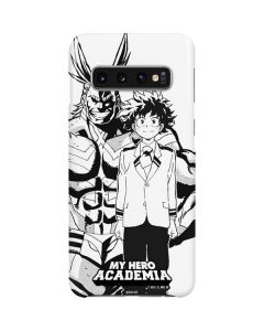 All Might and Deku Black And White Galaxy S10 Lite Case
