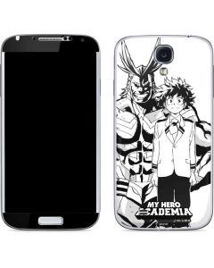 All Might and Deku Black And White Galaxy S4 Skin
