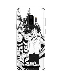 All Might and Deku Black And White Galaxy S9 Plus Skin