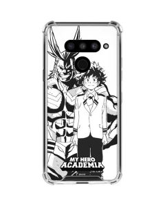 All Might and Deku Black And White LG V50 ThinQ Clear Case
