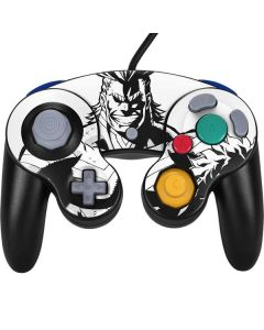 All Might and Deku Black And White Nintendo GameCube Controller Skin