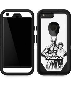 All Might and Deku Black And White Otterbox Defender Pixel Skin