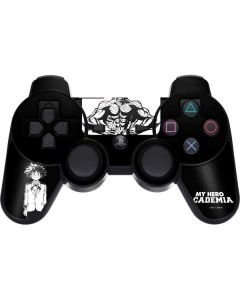 All Might and Deku Black And White PS3 Dual Shock wireless controller Skin