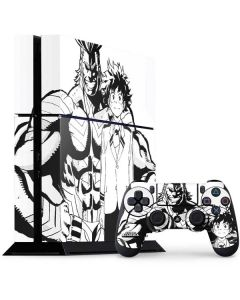 All Might and Deku Black And White PS4 Console and Controller Bundle Skin