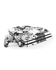 All Might and Deku Black And White PS4 Pro Bundle Skin