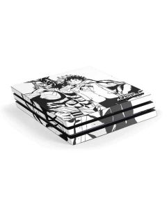 All Might and Deku Black And White PS4 Pro Console Skin