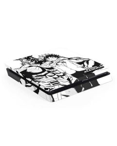 All Might and Deku Black And White PS4 Slim Skin