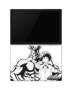 All Might and Deku Black And White Surface Pro 6 Skin