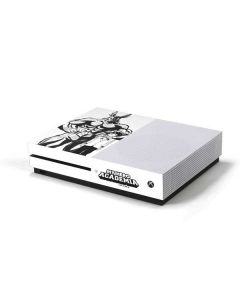 All Might and Deku Black And White Xbox One S Console Skin
