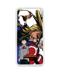 All Might and Deku Google Pixel 3 Clear Case