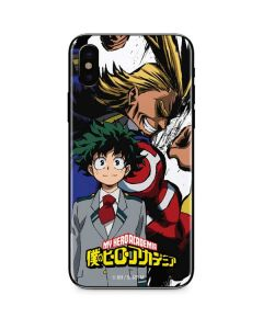 All Might and Deku iPhone X Skin