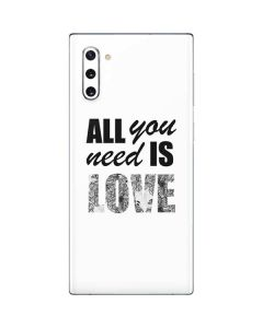 All You Need Is Love BW Galaxy Note 10 Skin