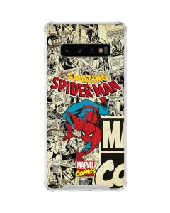 Amazing Spider-Man Comic Galaxy S10 Clear Case