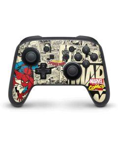 Amazing Spider-Man Comic Nintendo Switch Pro Controller Skin