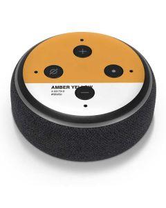 Amber Yellow Amazon Echo Dot Skin