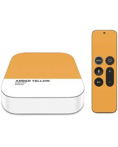 Amber Yellow Apple TV Skin
