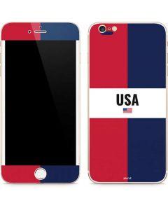 American Flag Color Block iPhone 6/6s Plus Skin