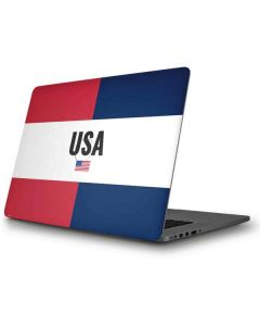 American Flag Color Block Apple MacBook Pro Skin