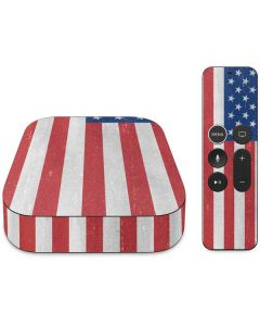 American Flag Distressed Apple TV Skin