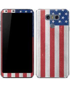 American Flag Distressed LG G6 Skin