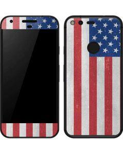 American Flag Distressed Google Pixel Skin