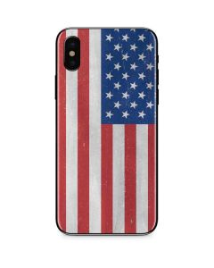 American Flag Distressed iPhone XS Skin