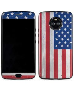 American Flag Distressed Moto X4 Skin