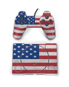 American Flag Distressed PlayStation Classic Bundle Skin