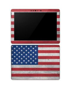 American Flag Distressed Surface Go Skin