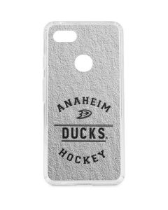 Anaheim Ducks Black Text Google Pixel 3 XL Clear Case