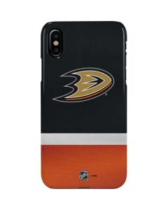 Anaheim Ducks Jersey iPhone XS Lite Case