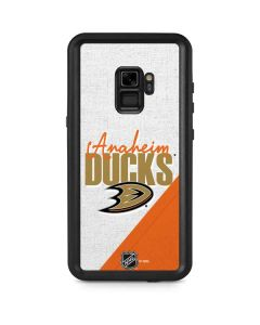 Anaheim Ducks Script Galaxy S9 Waterproof Case