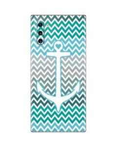 Anchor of Love- Aqua Galaxy Note 10 Skin