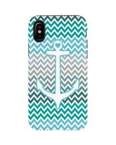 Anchor of Love- Aqua iPhone X Pro Case