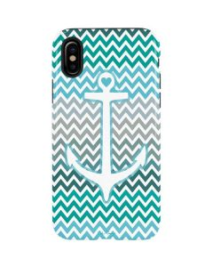 Anchor of Love- Aqua iPhone XS Max Pro Case